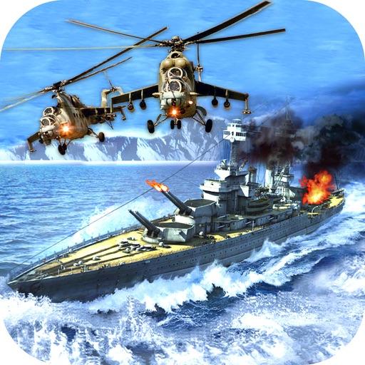 War-ship Sea Helicopter Strike : 3D Battle-Field iOS App