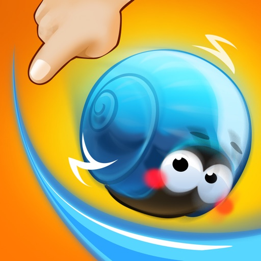 Rolling Snail-Drawing Puzzle Game