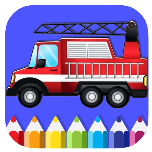 draw fire truck coloring book game for kids by lune sumnoi