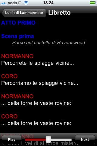 Screenshot of Opera: Lucia di Lammermoor2