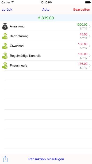 Screenshot von iSpend Wallet : Budget halten Assistent3