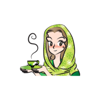 Green Scarf Beauty stickers by wenpei Wiki