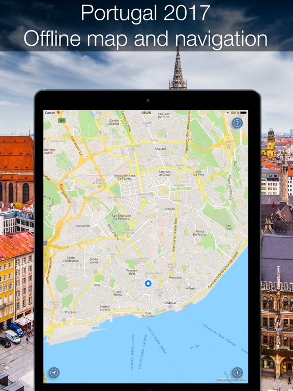 Portugal Offline Map And Navigation App Price Drops - Portugal map app