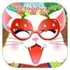 Cat fashion party - pet dress up game