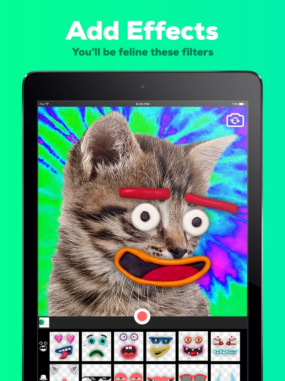 Screenshots of GIPHY Cam. The GIF Creator for iPad