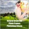 Natural Green Hill Photo Frames Photoshop Effects