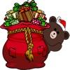 可愛的聖誕熊貼紙贴纸,设计:CandyASS