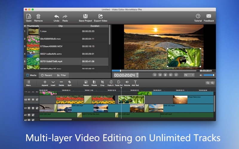 Screenshot Video Editor MovieMator Pro – Movie & Film Maker!