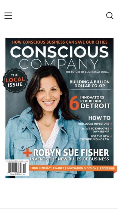 Conscious Company Magazine review screenshots