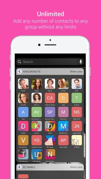 Избранное Widget - Контакты Launcher для iPhoneСкриншоты 3