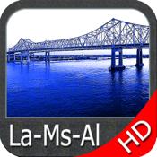 Louisiana Miss Alabama Hd Map app review