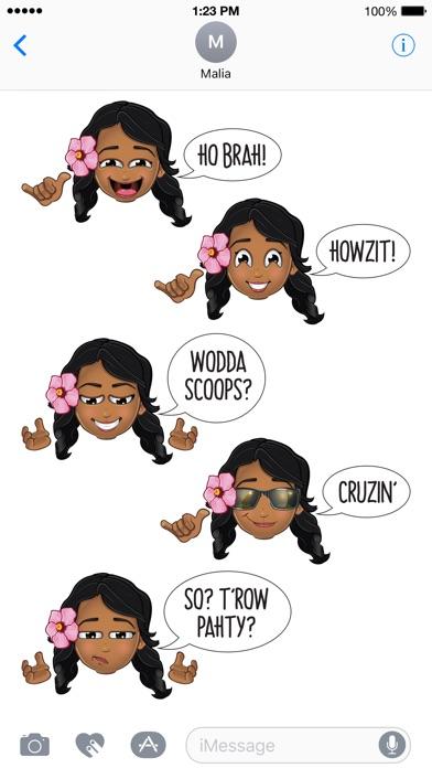 Pidginmoji - Wahine Stickers Screenshot