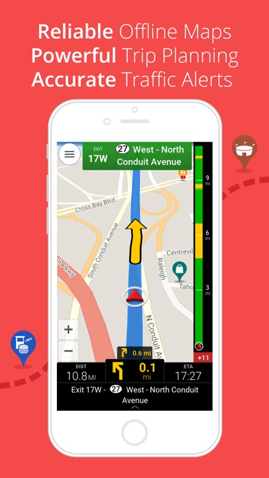 Screenshot CoPilot HD USA – GPS Navigation & Cartes