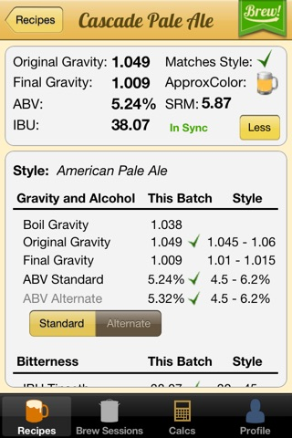 Brewer's Friend – Homebrew Recipe Builder & Calc. screenshot 3