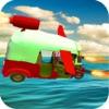 Flying tuk tuk Transport: Auto Flaky Rickshaw Sims