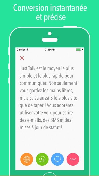 Screenshot #2 pour Just Talk ~ Parole-texte