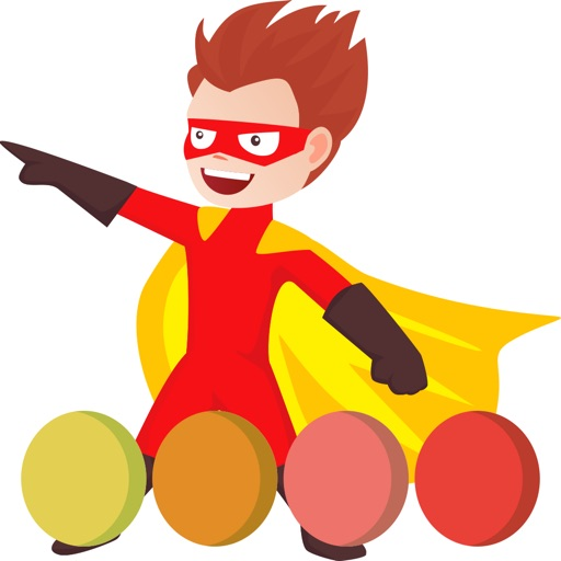 Superhero coloring book painting game for kids Icon