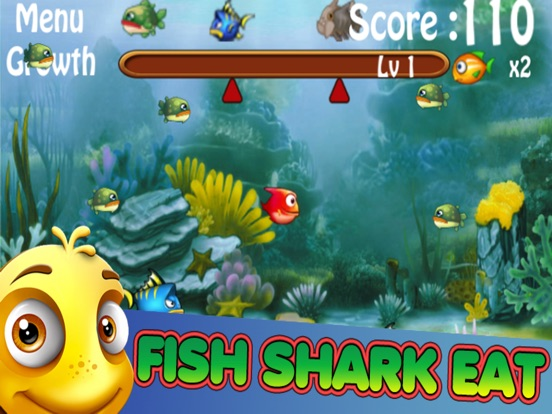 Hunger feeding frenzy fish eat fish games by suphin yana for Fish eat fish game