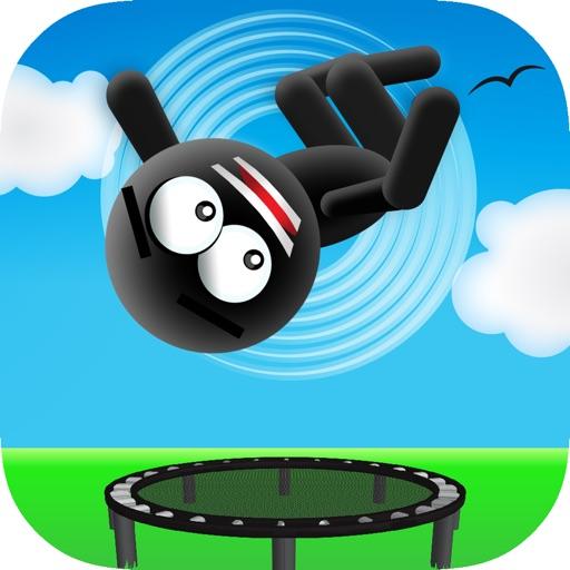Stickman Trampoline PRO - Extreme Flip Action!
