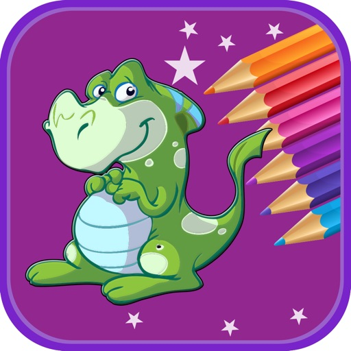 Dinosaur Coloring Book For Kids & Toddlers iOS App