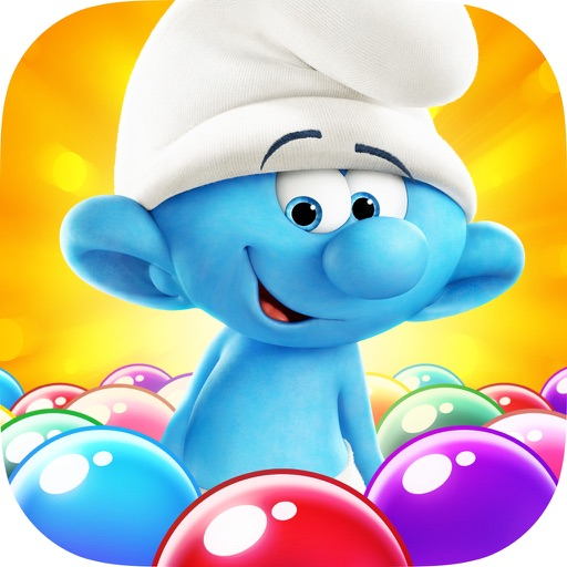Smurfs Bubble Story app for ipad