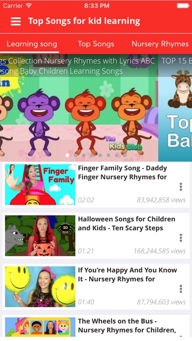 Screenshot #3 for Kid Songs - Top music learn singing english song