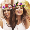 Flower Filters Crown - Collage Photo & Funny Face