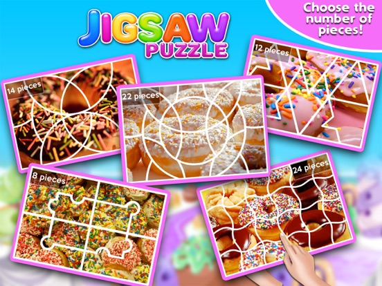Screenshot #1 for Sweet Donuts Jigsaw Puzzle - Sweet Logic Game