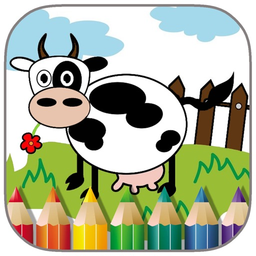 Toddler Kids Cow Farm Game Coloring Book Edition iOS App