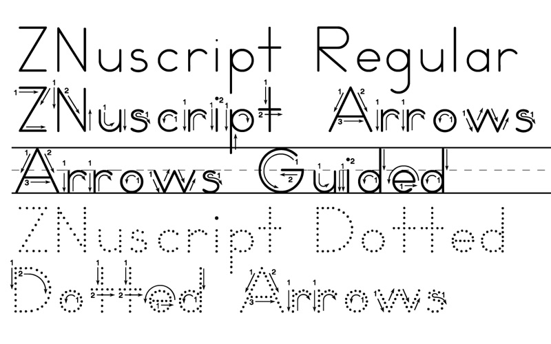 ZB-Style Font Cursive Printables Worksheets