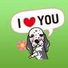 Funny English Setter Dog Stickers