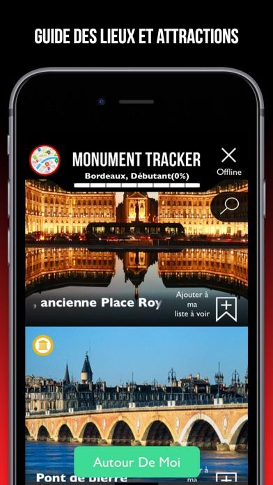 Paris guide voyage Monument Tracker carte offlineCapture d'écran de 1