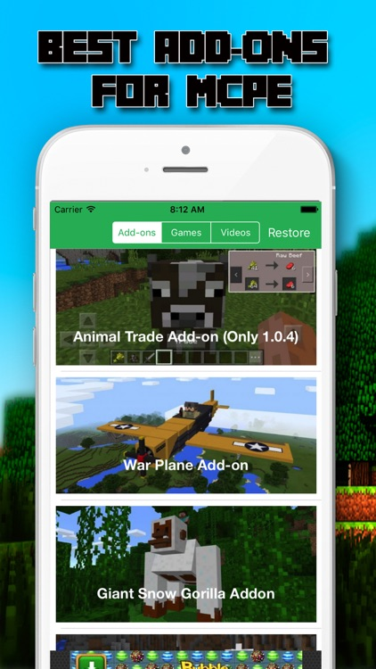 MCPE ADDONS MINI GAMES MAP FOR MINECRAFT PE By PHAN QUANG - Die besten maps fur minecraft pe