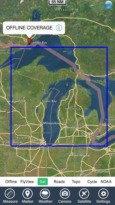 App shopper michigan lakes fishing charts navigation for Fishing gps apps