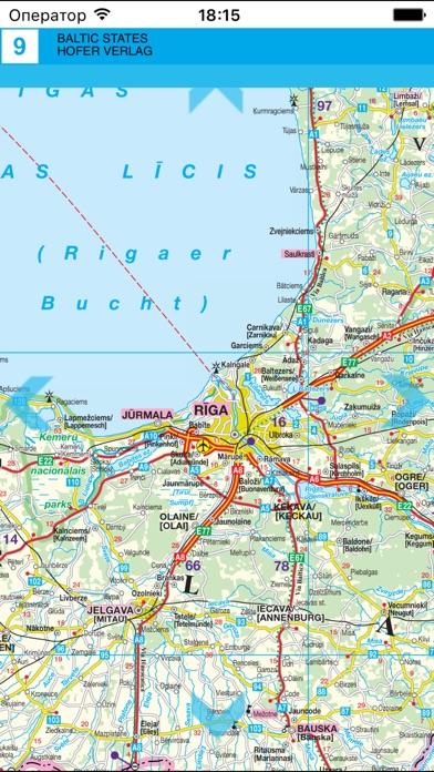 Прибалтика. Автодорожная карта.Скриншоты 4