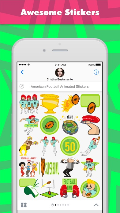 Screenshot of American Football Animated Stickers stickers1