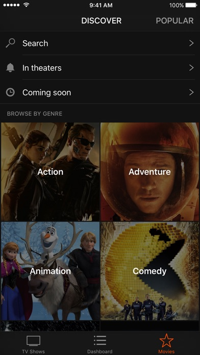 Action! TV & Movies Tracker Screenshot