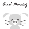 Gray Rabbit stickers by wenpei App