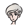Short Gray Hair Girl stickers by wenpei Wiki