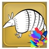 Paint Book For Kid Armadillo