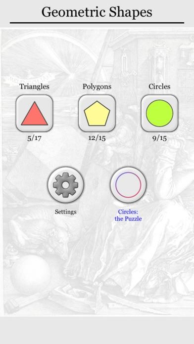 Geometric Shapes: Triangle & Circle Geometry Quiz Screenshots