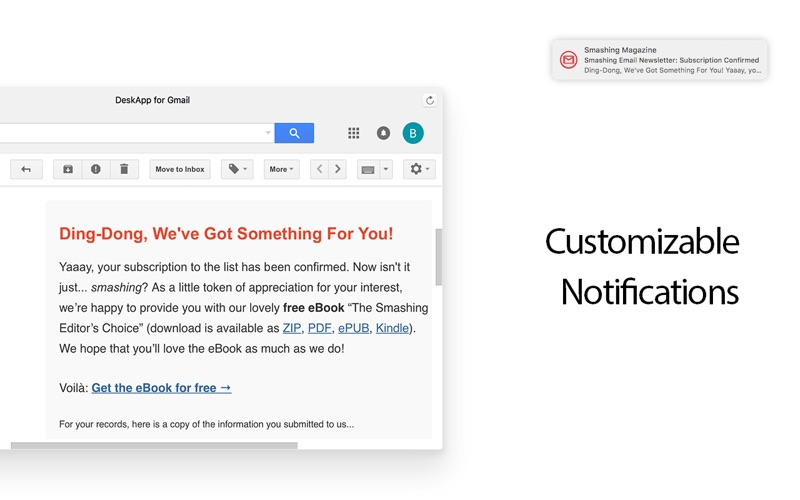 Mail for Gmail Screenshot