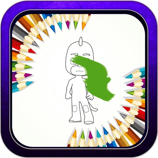 """Color Book Game - """"for Pj Mask Version"""" iOS App"""