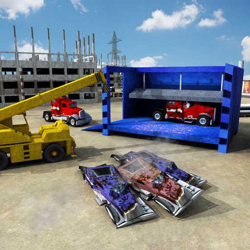 Monster Truck Crusher Crane Driving Simulator 3D