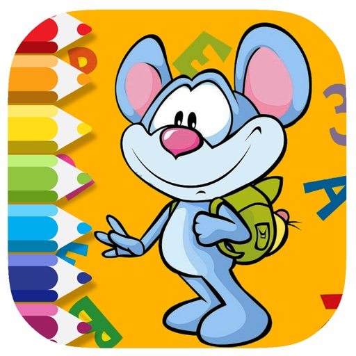 Mouse Junior Coloring Page Game Free Edition iOS App