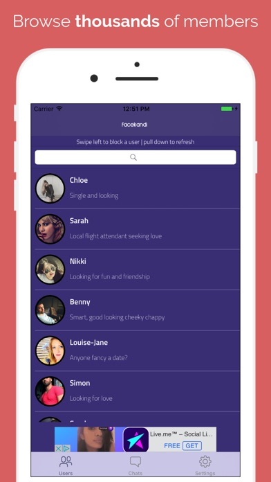Facekandi - Chat, Date & Hook Up Screenshots
