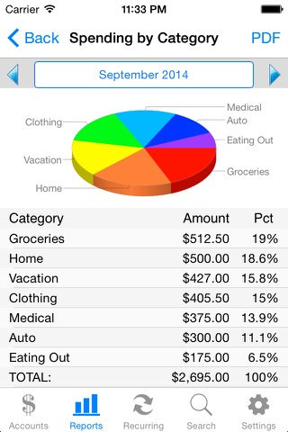 Accounts 2 Checkbook screenshot 1