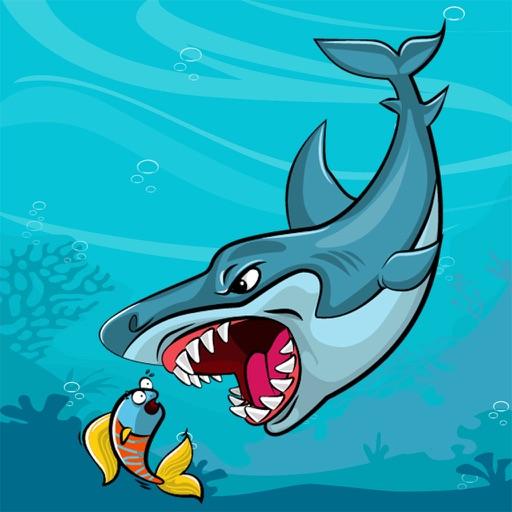 卡通鲨鱼简笔画 8张