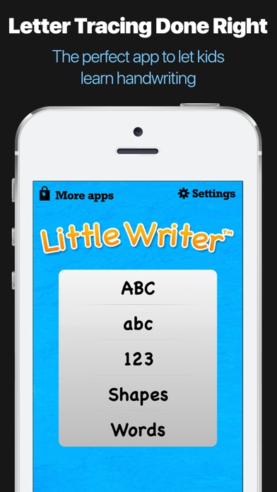 Little Writer - The Tracing App for Kids Screenshot 1