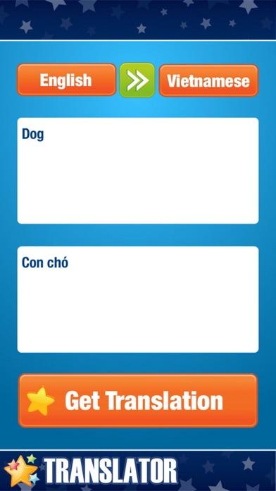 English Vietnamese Translator Screenshot on iOS